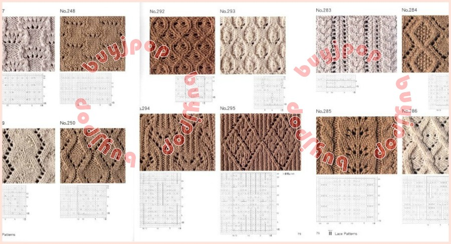 Knitting Stitches Description : Chinese Japanese Knit Craft Pattern Book 500 Knitting Comprehensive Stitches ...